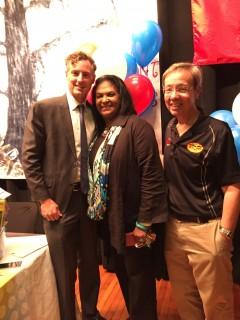 Education Supt. John White, Mayor Jennifer and Mark